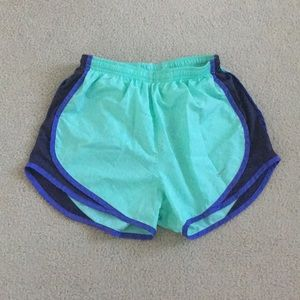 Green and Purple Nike Shorts